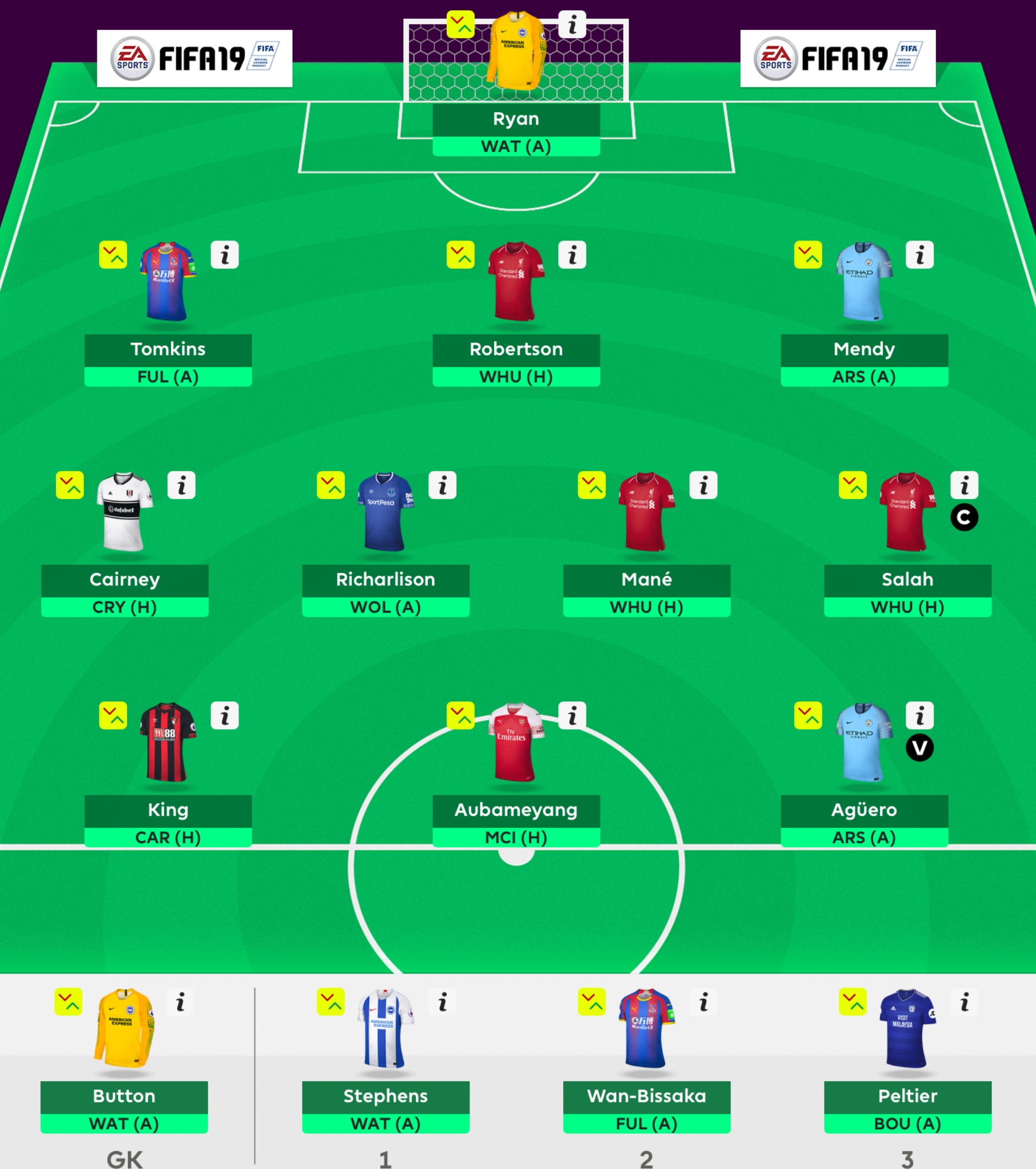 Gameweek 1 Team