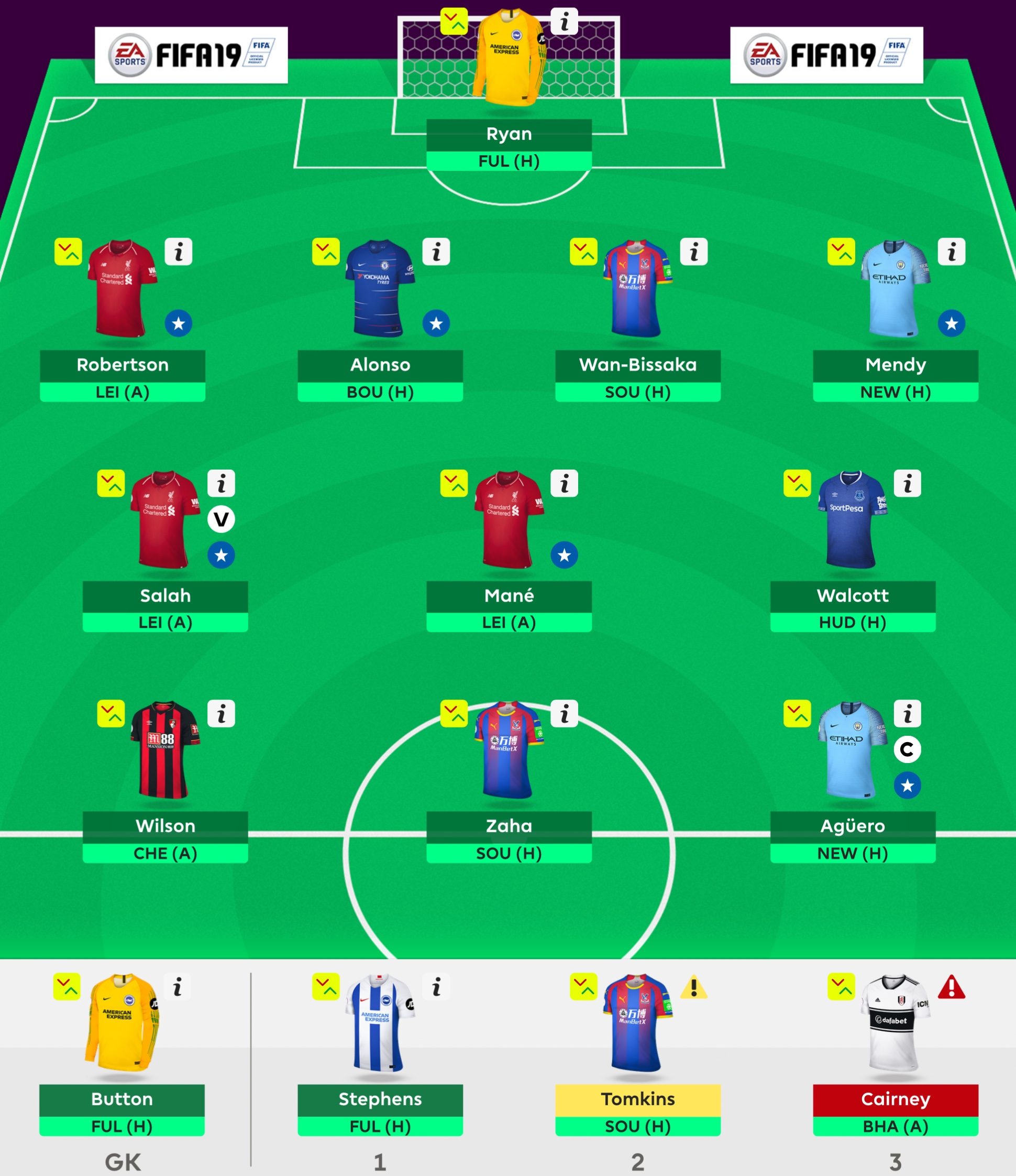 Gameweek 4 Team