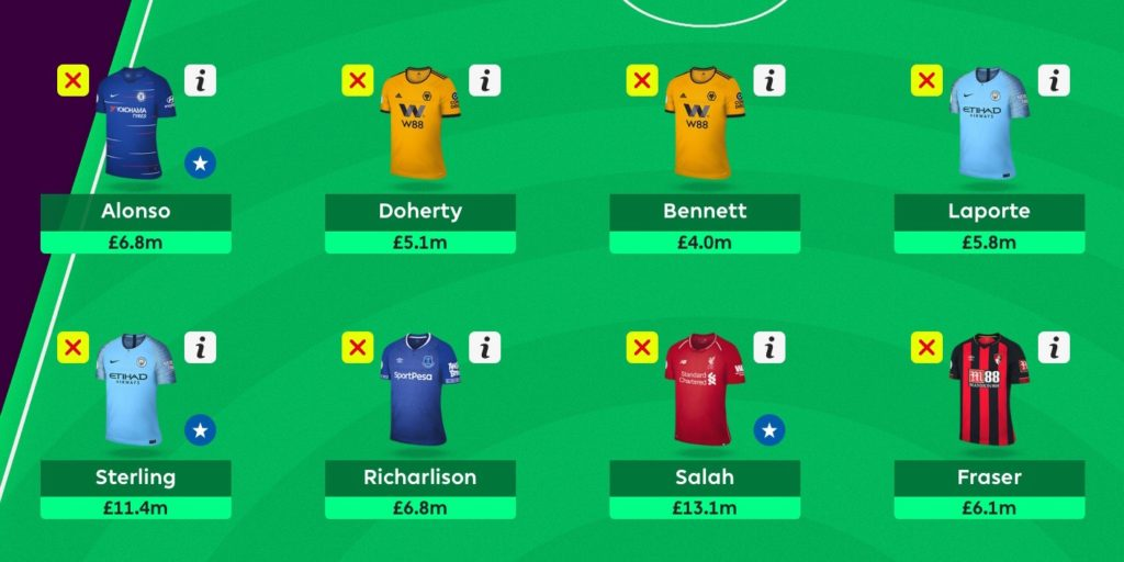 Gameweek 20 Team