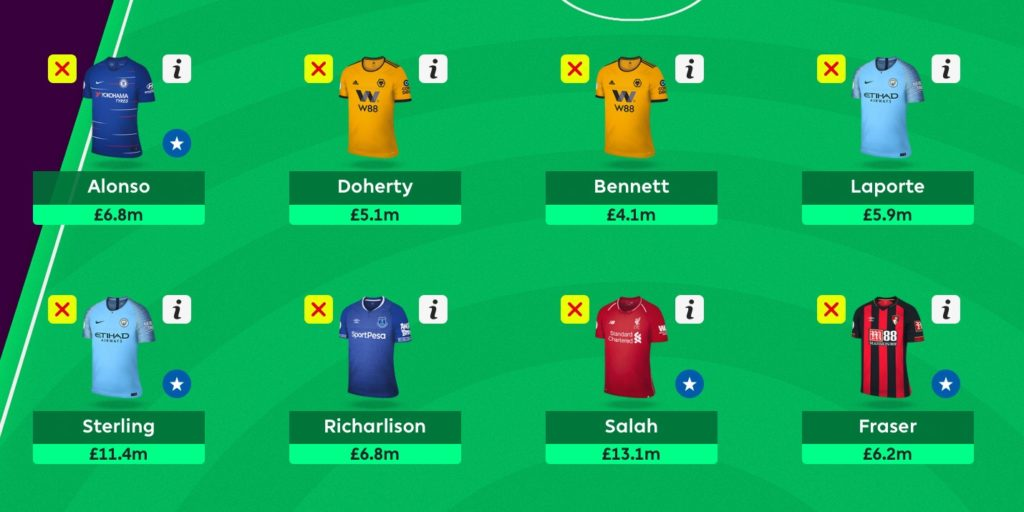 Gameweek 19 Team