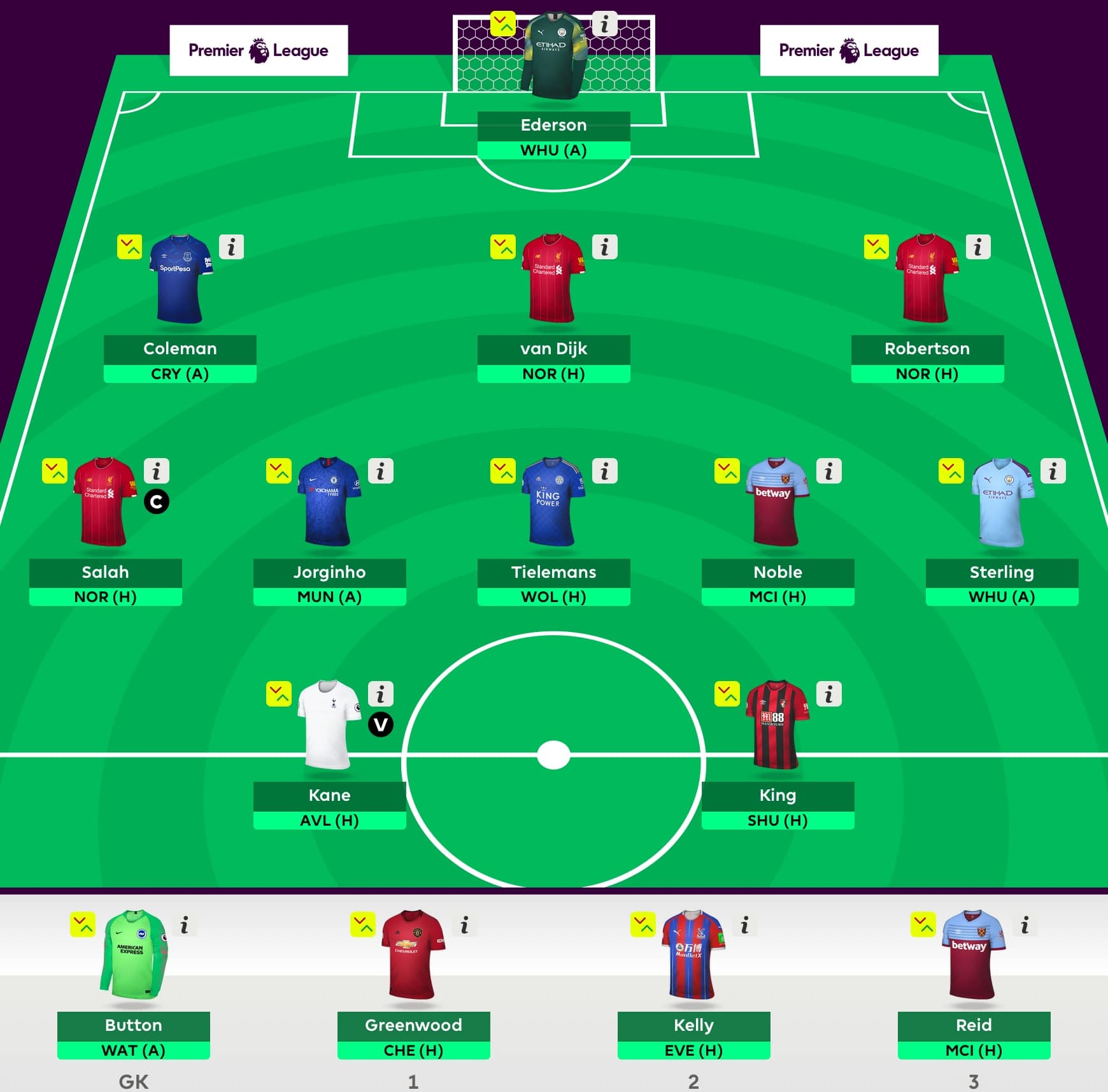Gameweek 1 Draft