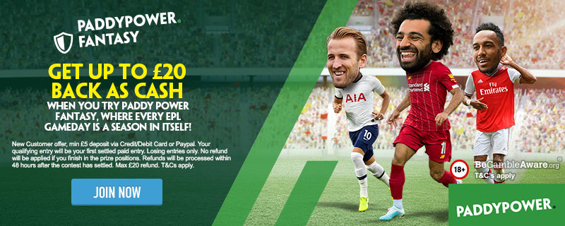 Paddy Power Fantasy Graphic