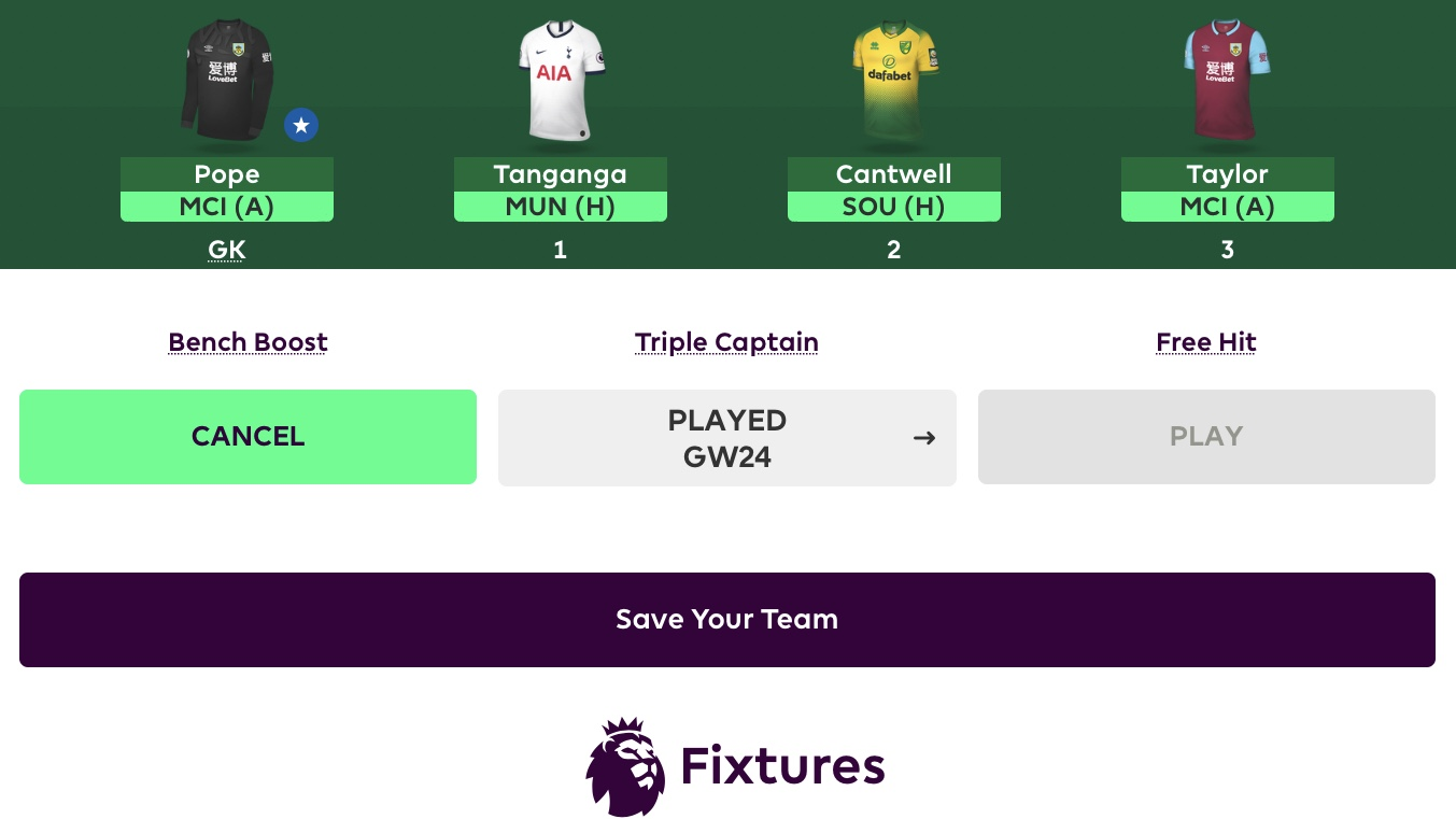 FPL Gameweek 30 Chip Strategy