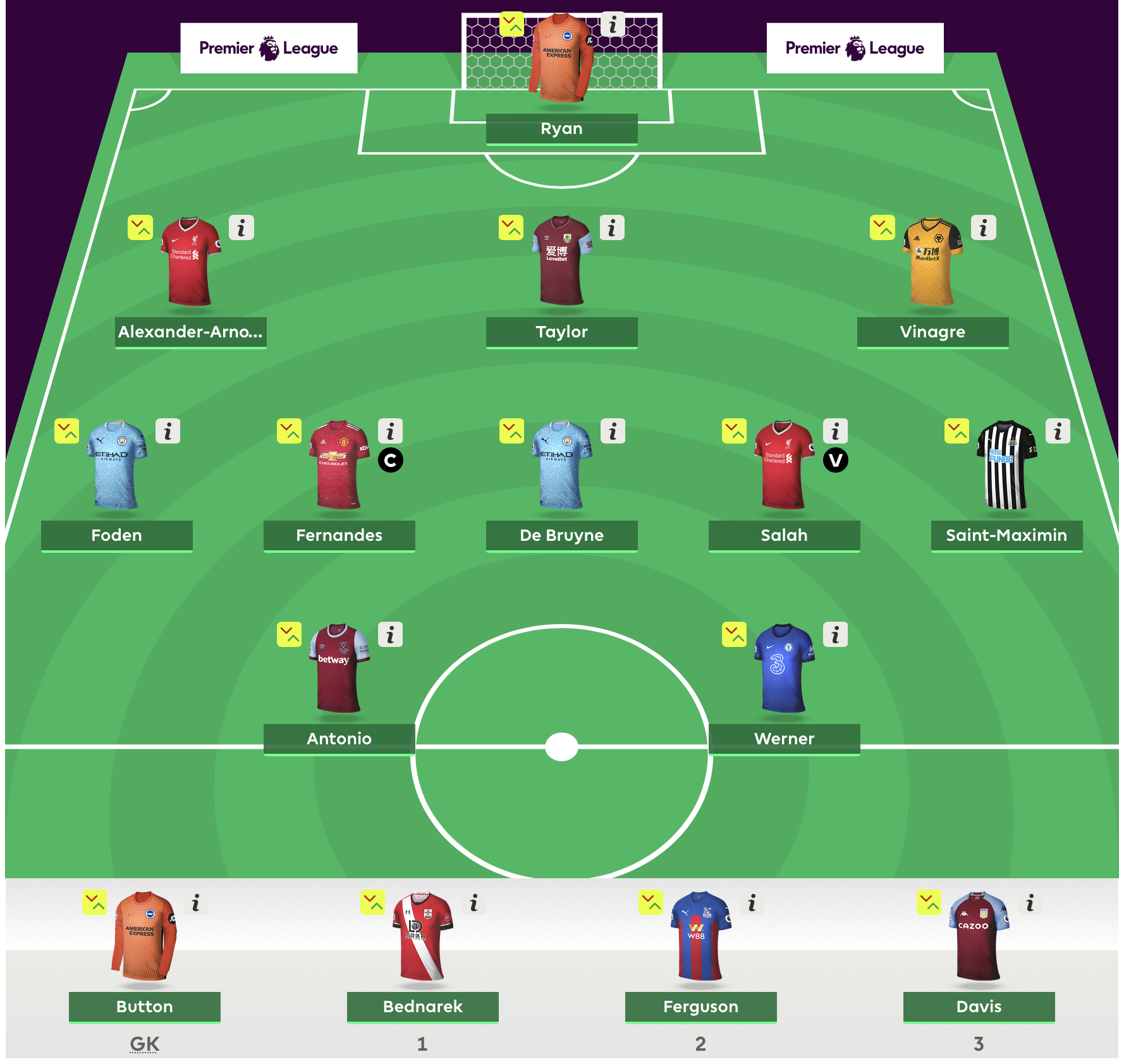 FPL Gameweek 1 First Draft