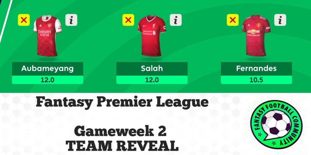 FPL Gameweek 2 Team