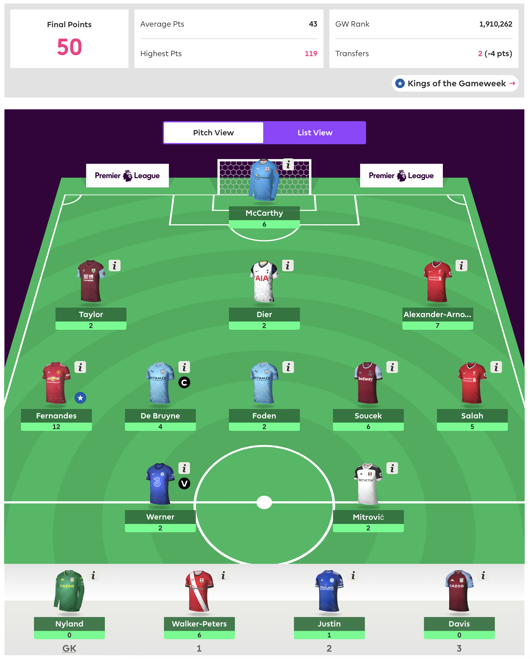 FPL Gameweek 3 Review
