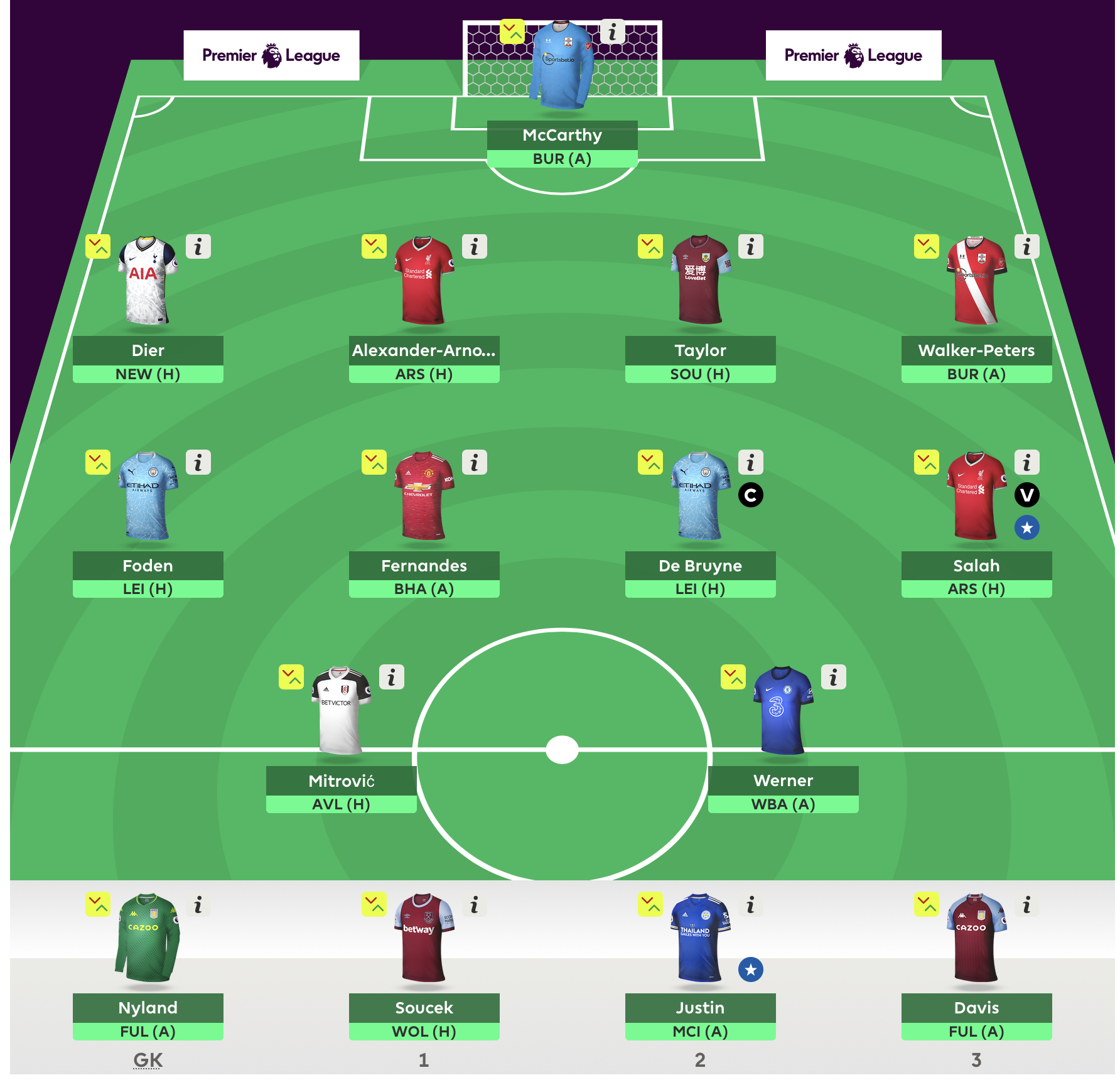 FPL Gameweek 3 Team