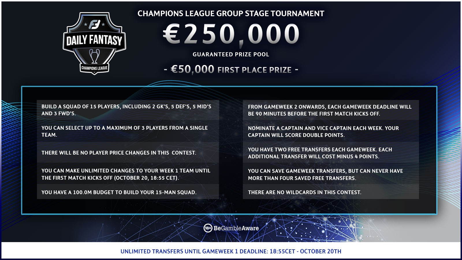 Champions League Fantasy Rules