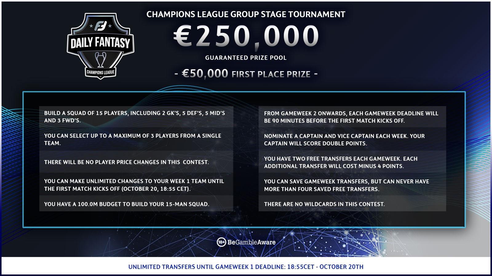 Champions League Fantasy Rules