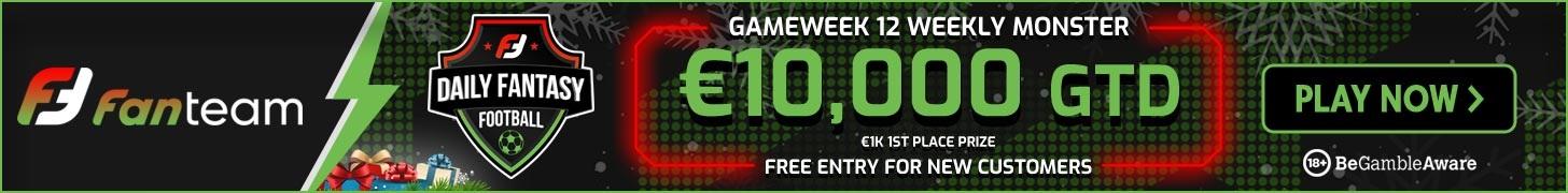Gameweek 12 FPL