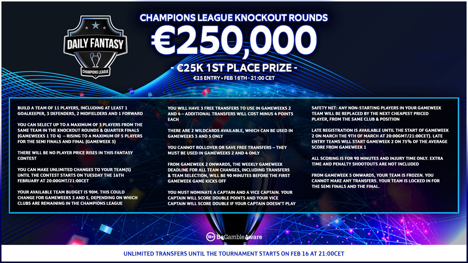 UCL Fantasy Rules